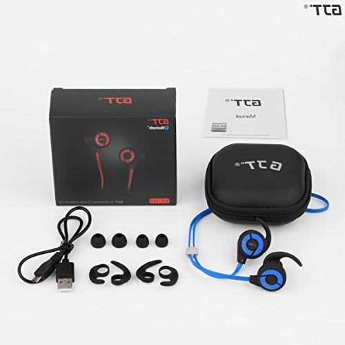 GJT E10 V4.1 Wireless Sports Earphones with Mic Bluetooth Lightweight Ear Noise Cancelling Earbuds Fit for