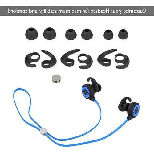 GJT Bluetooth Headphones, V4.1 with Lightweight In Noise Cancelling Earbuds