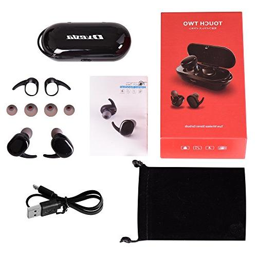 Bluetooth Headphones,Dveda Stereo Earbuds Dual Headsets with Box Built-in Cancelling and Android