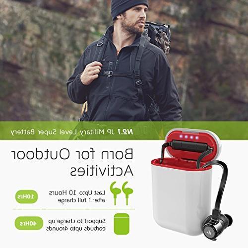 Bluetooth Headphones, Driver Wireless Ear CVC6.0 Secure Fit, Running