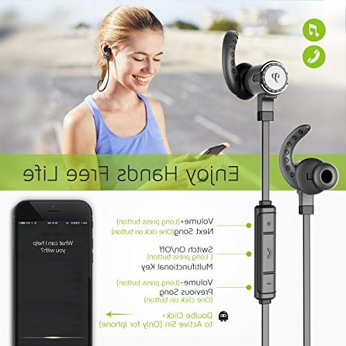 Bluetooth Headphones, Driver Wireless CVC6.0 Noise 10 hours time, Secure Fit, for