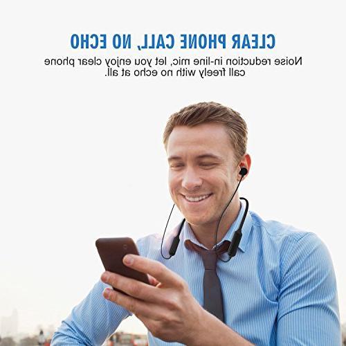 Bluetooth Headphones, Comb Wireless Headphones, Sweatproof Earphones with Stereo Magnetic Earbuds, Cancelling, Hours Fast