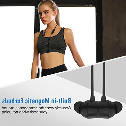 Bluetooth Headphones, Wireless Earphones with Earbuds, Neckband Headset with Cancelling, 9 Hours Fast Pairing