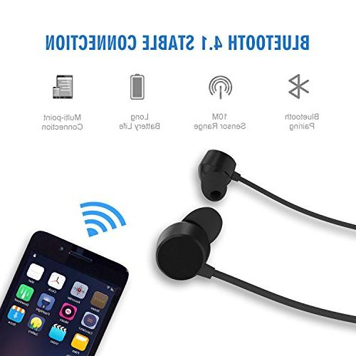 Bluetooth Wireless Headphones, Sweatproof Sports Earphones with Stereo Magnetic Earbuds, Lightweight with - Noise Cancelling, Hours Playtime, Fast