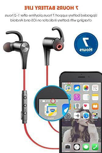SoundPEATS Bluetooth Headphones Ear Wireless Magnetic Sweatproof Mic