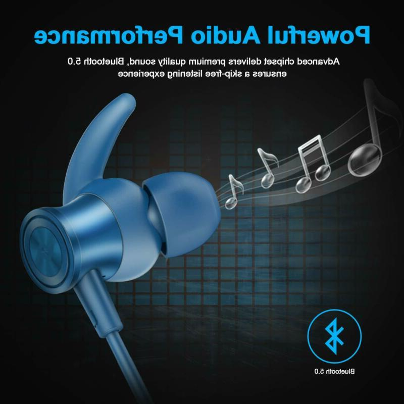 Letscom Bluetooth Wireless Earbuds With Magnetic Connect