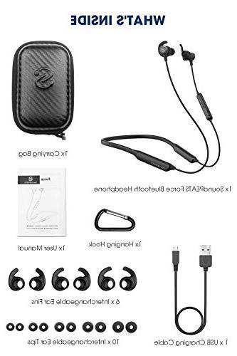 SoundPEATS Force Headphones Wireless Neckband in-Ear Earbuds