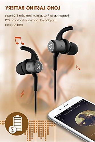 4f81f1d70d5 SoundPEATS Bluetooth Headphones Wireless Earbuds for Workout Earphones with  Mic Black