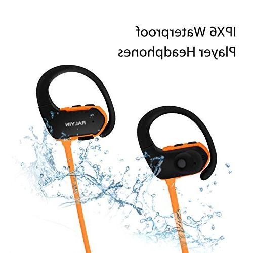 Ralyin Bluetooth MP3 Player Earbuds Headset Memory Micro Storage Earphones for Running Gym