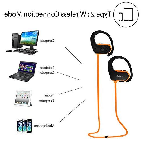 Ralyin Bluetooth Headphones Player Wireless Headset Built Memory Micro Sd Storage Waterproof Earphones for Running Gym