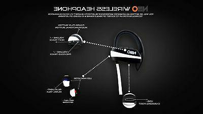 Bluetooth Headphones White-Wire With Advanced Bluetoo