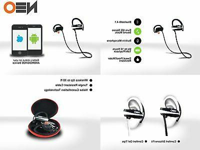 Bluetooth Headphones White-Wire Advanced Earbuds