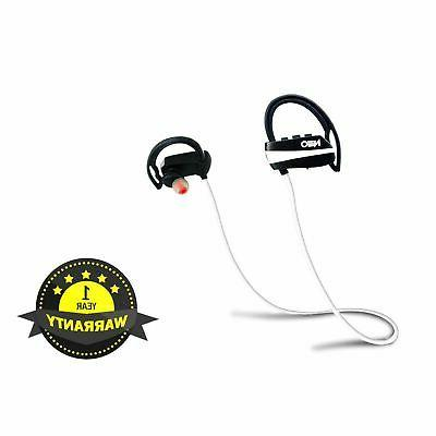 bluetooth headphones white wire with advanced features