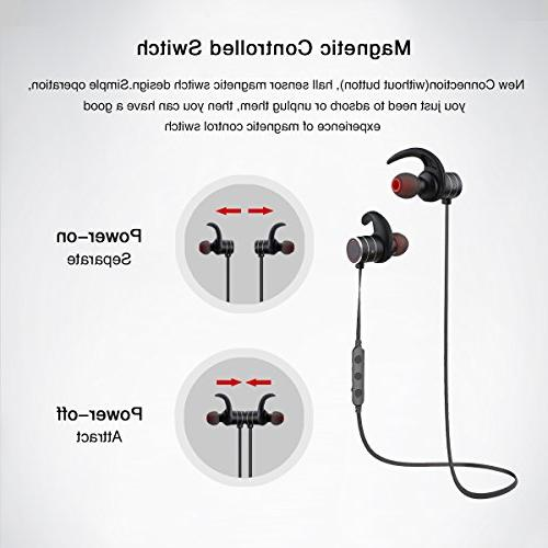 Bluetooth AWEI Wireless 4.1 Smart Magnetic Earbuds,