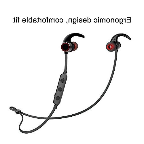 Bluetooth Wireless 4.1 Smart Magnetic Earbuds, Snug for Sports Built-in