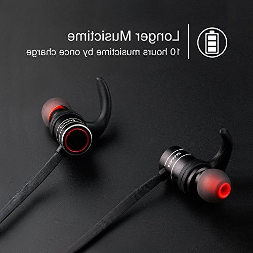 Bluetooth Headphones 4.1 Smart Earbuds, Sports with Built-in