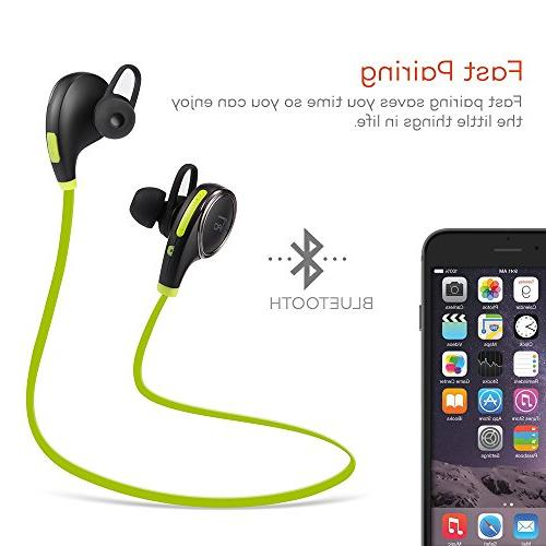 c0fe625ef10 TaoTronics Bluetooth Wireless Earbuds Sports Sweatproof Earphones with in  Mic