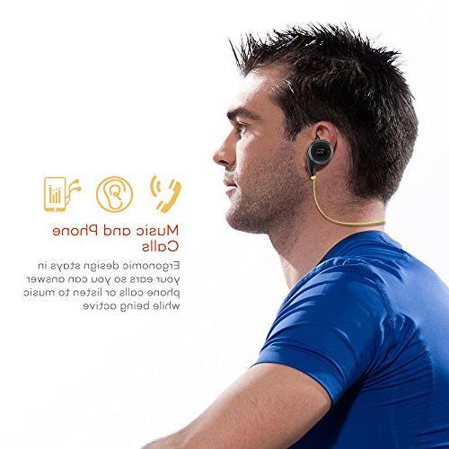 TaoTronics Bluetooth Headphones Earbuds Sweatproof Earphones in