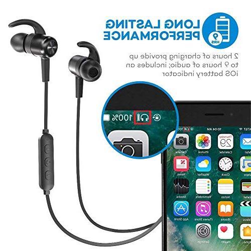 Bluetooth Headphones TaoTronics Wireless Earbuds Sport Earphones Hours Magnetic Lightweight & Fast