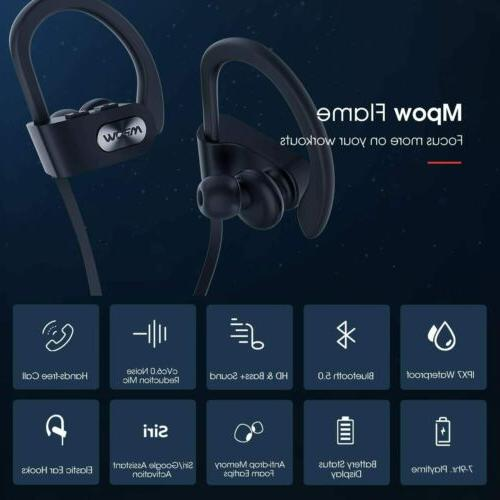 Mpow Flame Bluetooth Headphones IPX7 Wireless Earbuds Stereo
