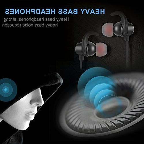Bluetooth Headphones Sports Deep Bass Stereo 8 Playtime Cancelling LOSEI