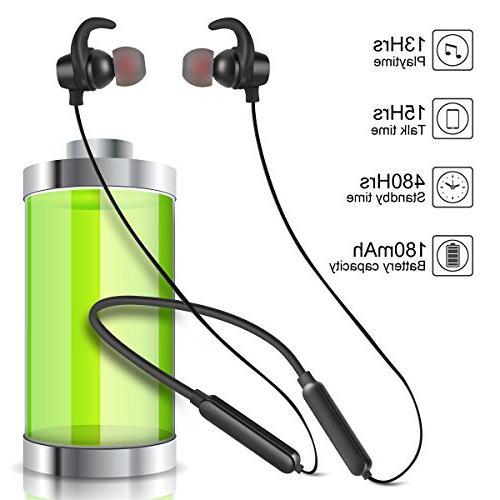 Bluetooth Headphones Headphones Sports Earphones Earbuds Deep 8 Playtime Cancelling Headsets