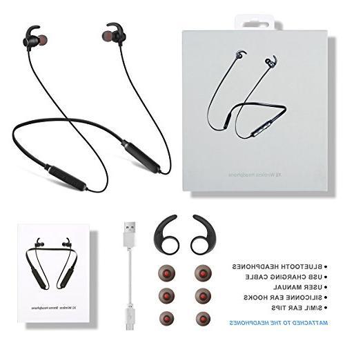 Bluetooth Headphones Sports Earphones Sweatproof Deep Bass 8 Noise Cancelling Headsets LOSEI