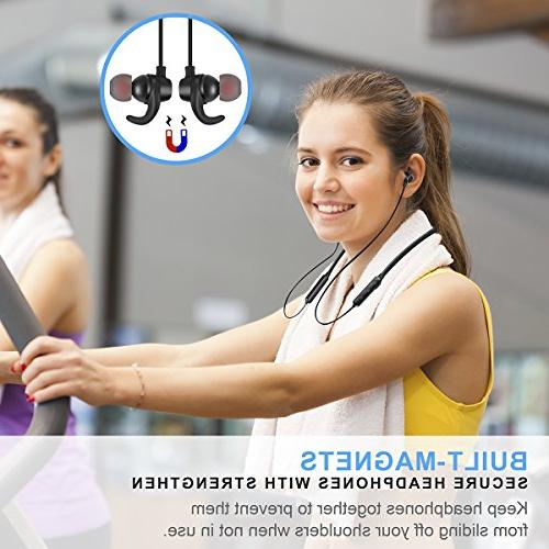 Bluetooth Sports Sweatproof Earbuds Deep HiFi Stereo 8 Playtime Noise Cancelling
