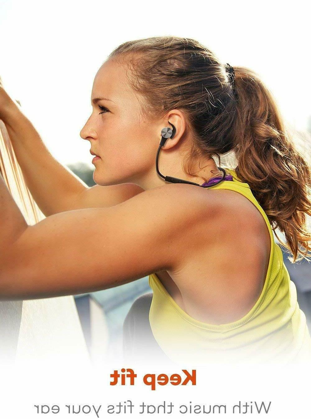 Bluetooth Headphones TaoTronics Wireless Magnetic Earbuds
