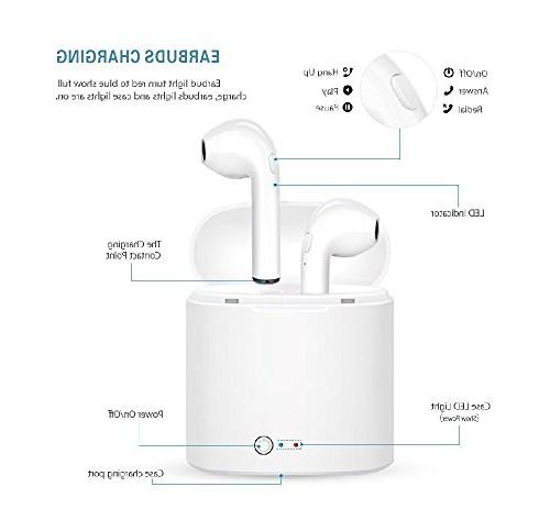 Bluetooth Headset,LIKEmaoxiang , Compatible 8 6S iOS Smartphone