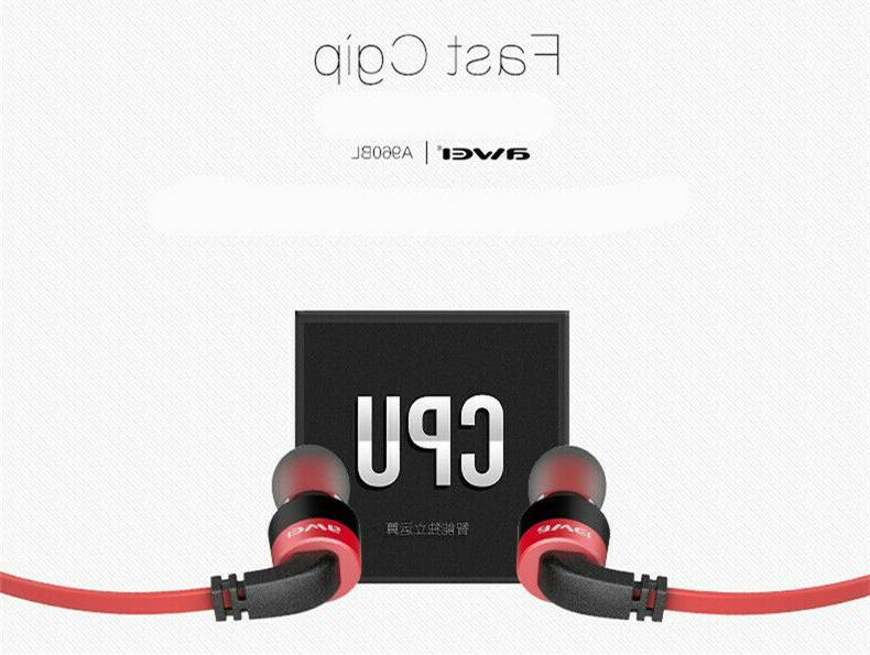 Awei Bluetooth Headset Sweatproof Sports Stereo Earbuds A960BL