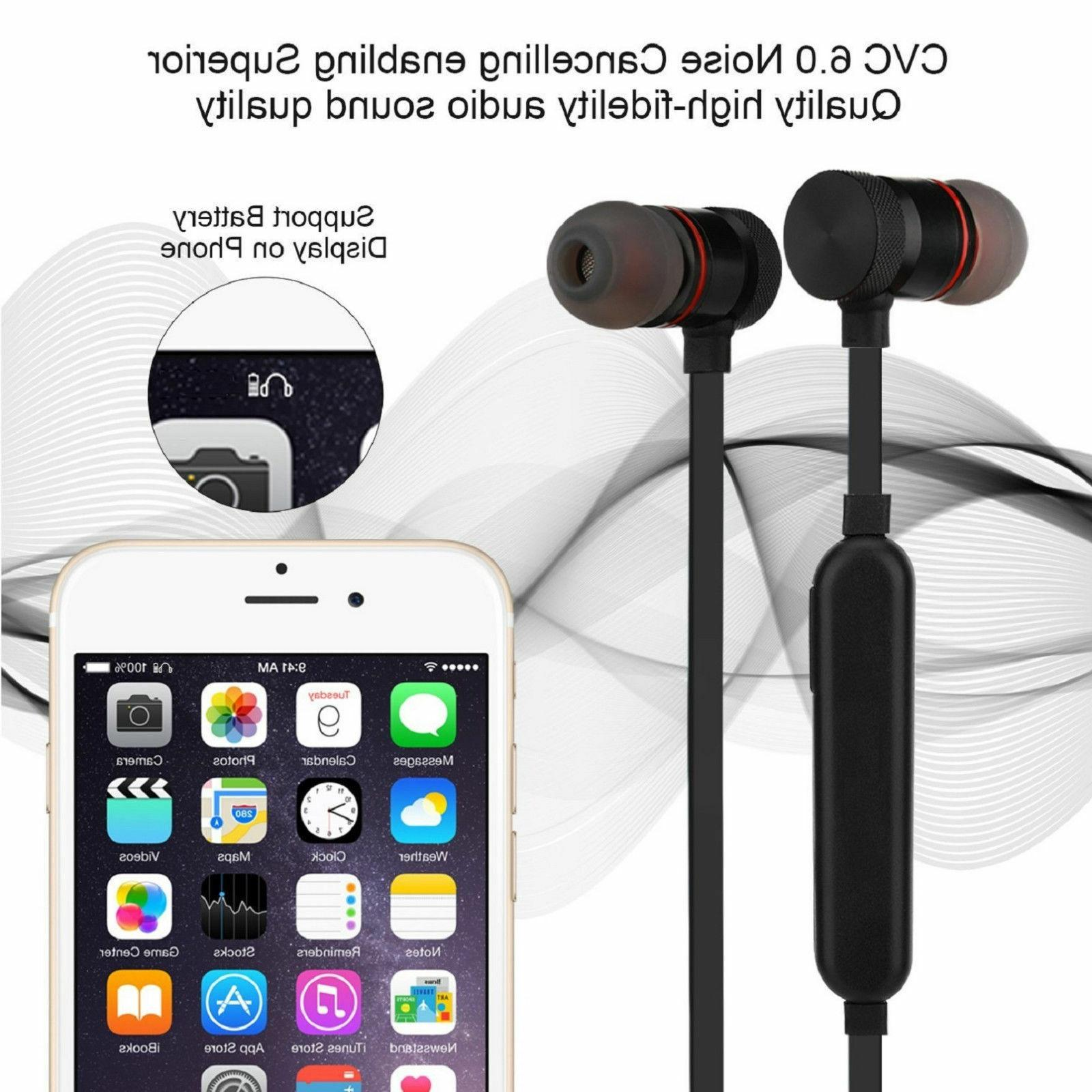 Bluetooth Stereo Headphones Earphone W/ Mic