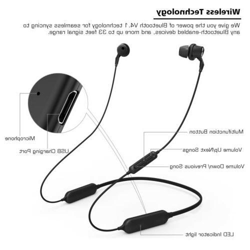 Wireless Noise Cancelling Earphones Wireless Stereo Earbuds Mic Headset