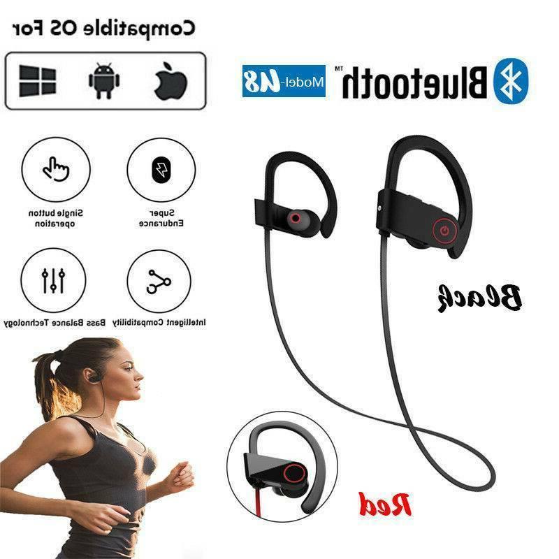 bluetooth sport headphones wireless earbuds sweatproof runni
