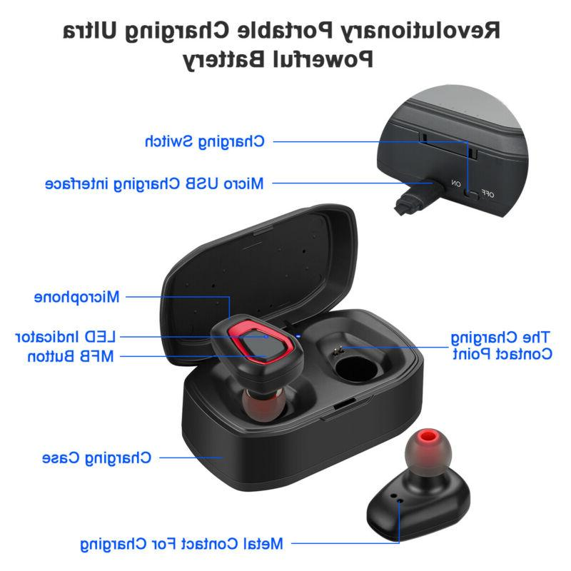 Bluetooth Earbud Invisible Headphone Cancelling