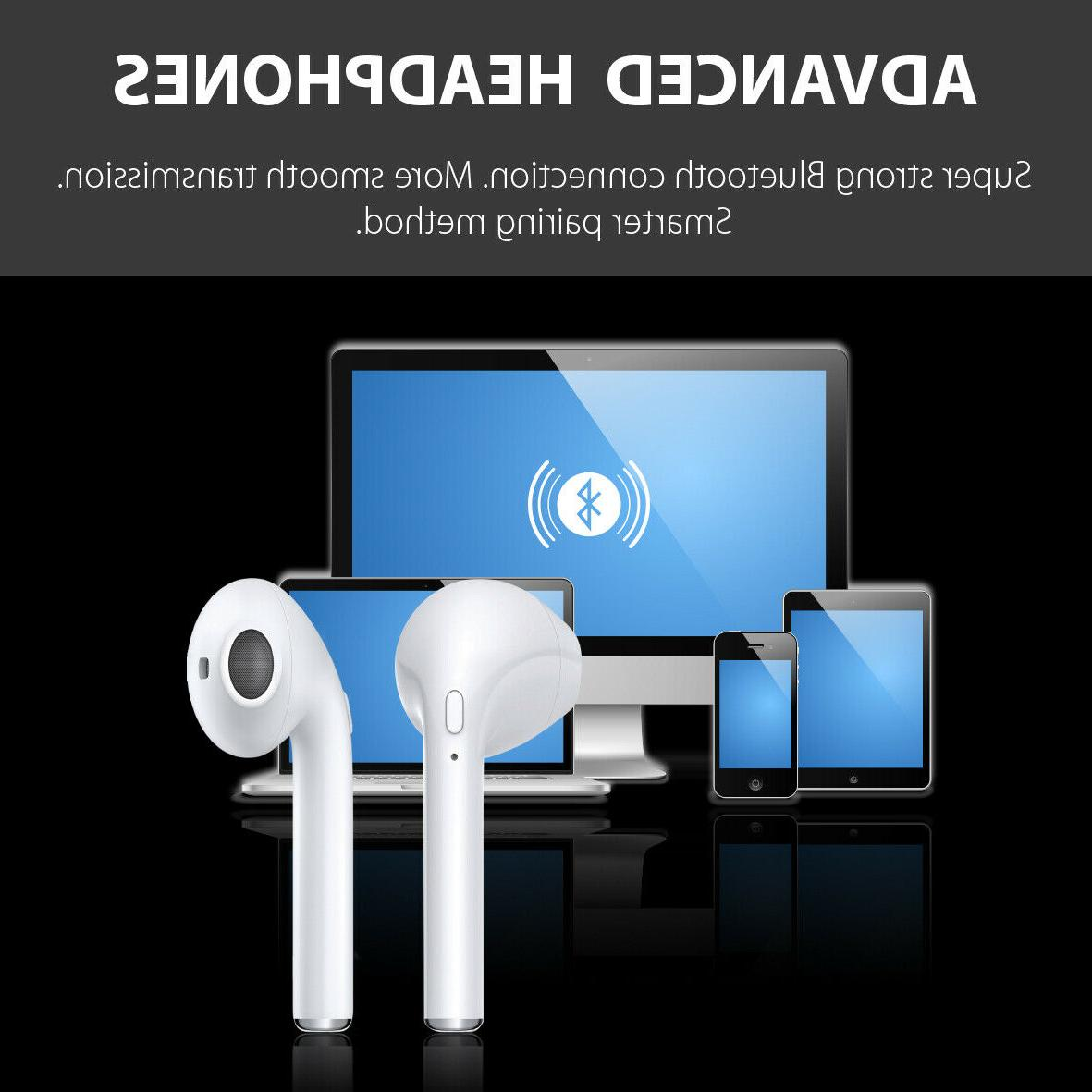 Bluetooth i7 Mini True W Magnetic Charger White