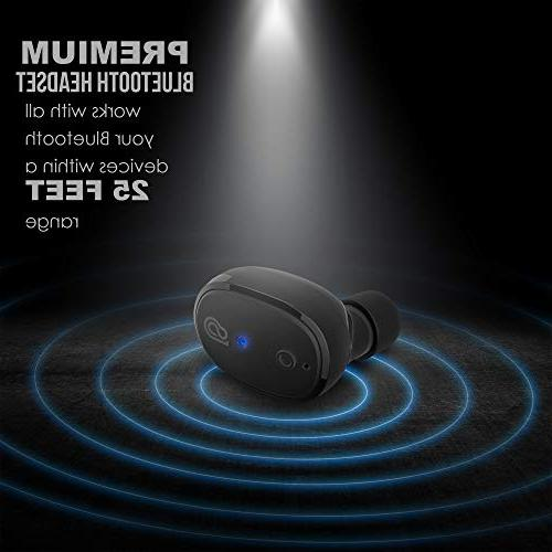 StealthBeats with Microphone with Charger Noise Cancelling, BASS Sound & Android