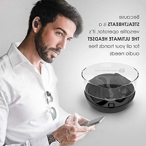 StealthBeats Bluetooth Wireless Headphones with Microphone with - Noise Cancelling, and BASS for