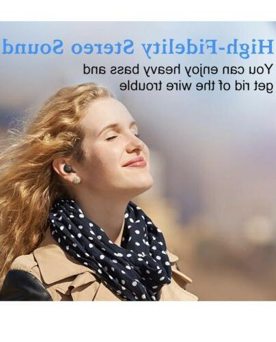 Bluetooth Wireless Deep Earbuds Stereo Charging
