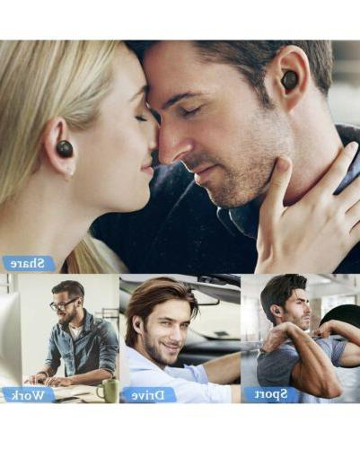 Bluetooth Deep Bass Earbuds Stereo Sound Charging