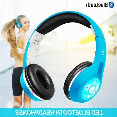 Bluetooth Wireless Earbuds Stereo Earphone light UP MIC