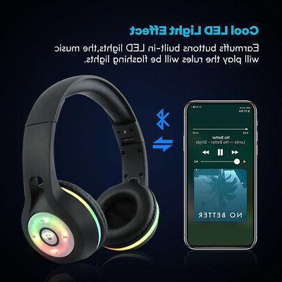 Bluetooth Wireless Earbuds Stereo Earphone light MIC