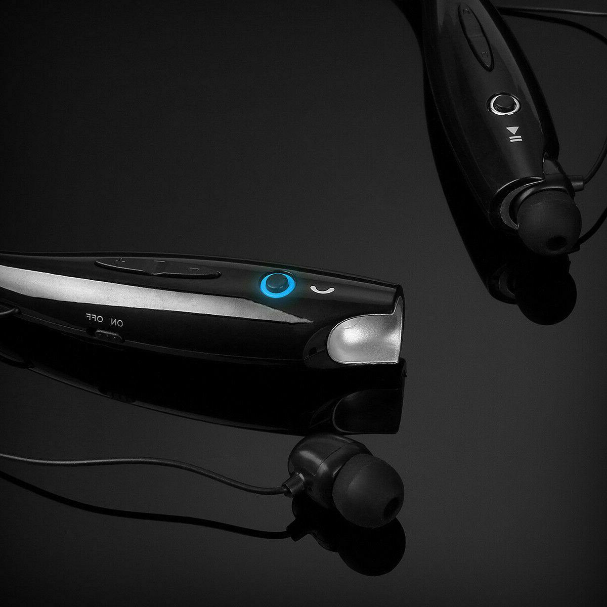 Bluetooth Wireless Headphones Earphone Neckband Earbuds Mic
