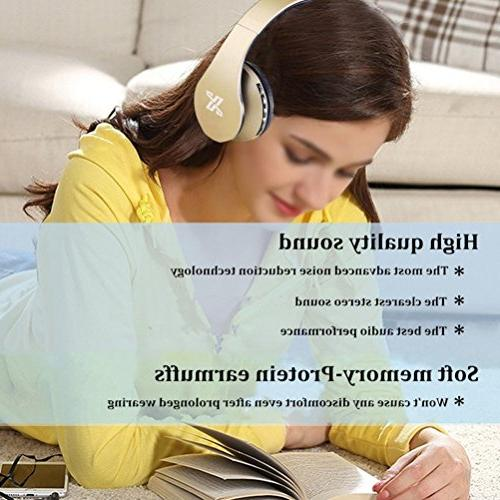 Bluetooth headset Microphone - 1 Wired/Wireless Over With Comfortable Earpads for MP3 Player