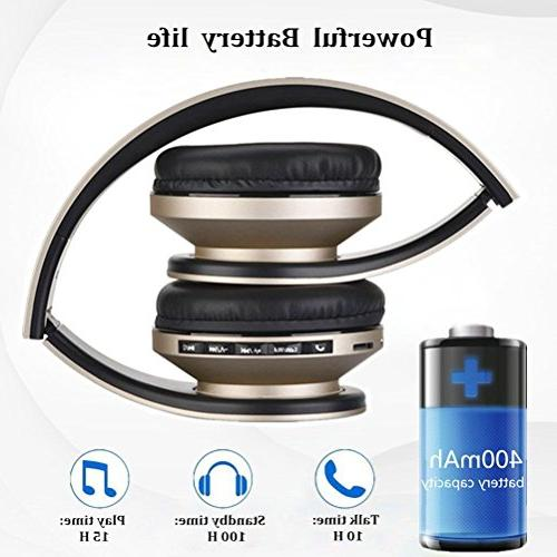 Bluetooth Wireless Microphone 1 Upgrade Over With Protein Earpads for PC, MP3 Player and