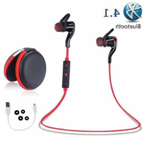 Bt 4.1 Wireless Stereo Earphone Earbuds Sport Headset Headph