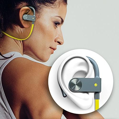 Photive Headphones Built-In Wireless Earbuds Sweat-proof, Designed And Active Lifestyles