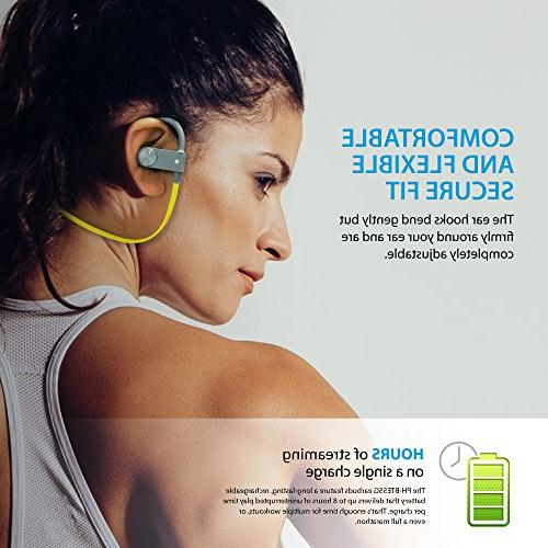 Photive BT55G Bluetooth Headphones Built-In Extreme Bass, Secure Fit Designed For Fitness And Active