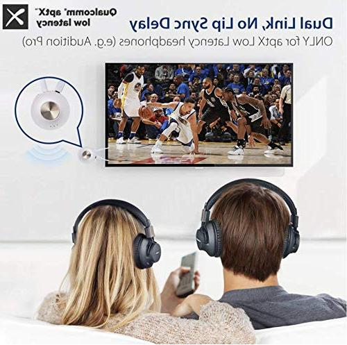 Avantree Bluetooth Transmitter, Low Latency PC , Built-in for Use, Audio for