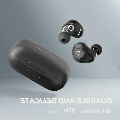 SOUNDPEATS Dual Dynamic Wireless Earbuds Charging Case